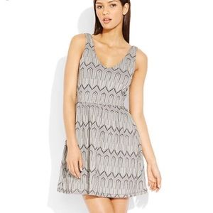 Lucky Brand Fit and Flare Patterned Dress